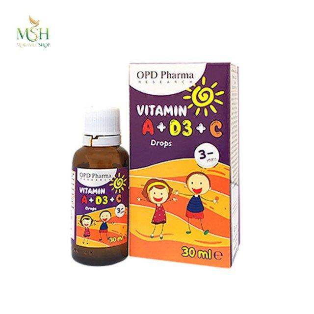 ویتامین آ، د3 و ث او پی دی فارما | OPD Pharma Vitamin A + D3 + C