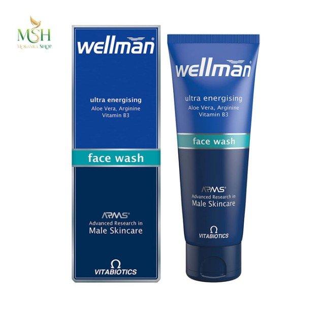 ژل شستشوی پوست صورت ول من ویتابیوتیکس | Vitabiotics Wellman Ultra Energising Face Wash