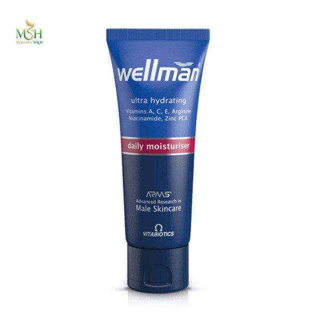 کرم و لوسیون مرطوب کننده روزانه ولمن ویتابیوتیکس | Vitabiotics Wellman Ultra Hydrating Daily Moisturiser