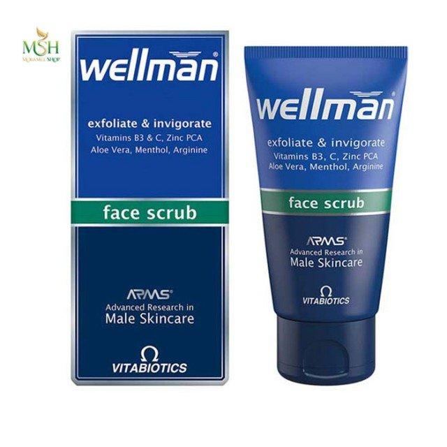 لایه بردار و تقویت کننده پوست صورت ول من ویتابیوتیکس | Vitabiotics Wellman Face scrub