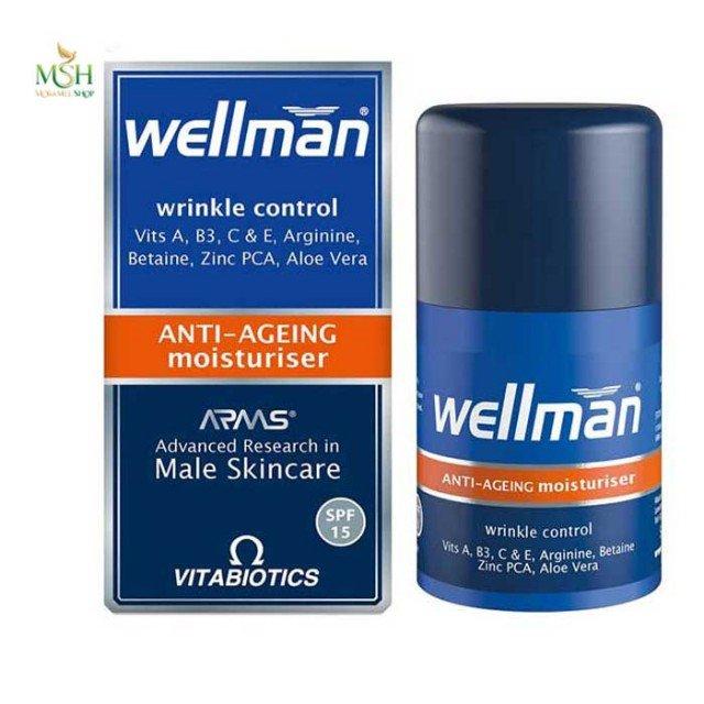 مرطوب کننده ضد چروک و پیری پوست ول من ویتابیوتیکس | Vitabiotics Wellman Wrinkle Control Anti Aging Moisturiser