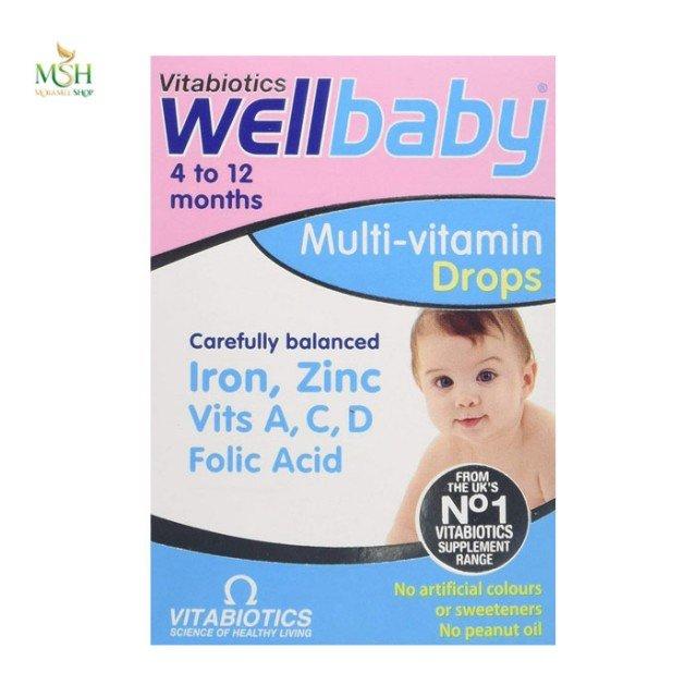 ول بیبی ویتابیوتیکس | Vitabiotics Wellkid Baby Multivitamin Drops
