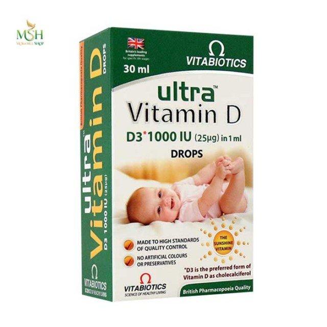 قطره خوراکی ویتامین د3 ویتابیوتیکس | Vitabiotics Ultra Vitamin D3 Drops