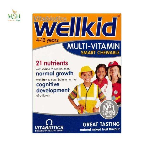 ول کید مولتی ویتامین جویدنی کودکان ویتابیوتیکس | Vitabiotics WellKid Multi Vitamins