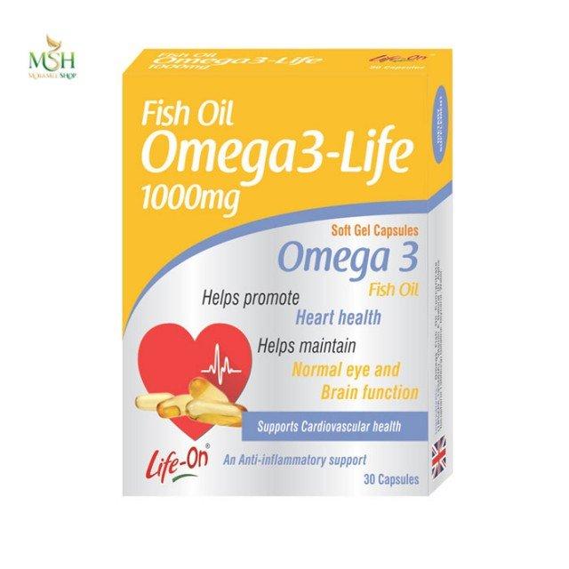 امگا3 لایف 1000 میلی گرم لایف آن | Life on Omega 3 Life 1000 mg