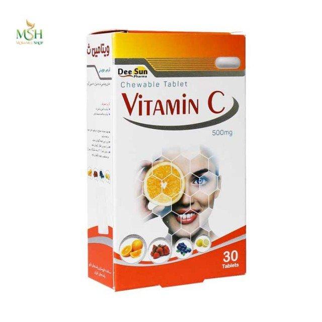 قرص ویتامین ث 500 میلی گرم دی سان فارما | Dee Sun Pharma Vitamin C 500 mg