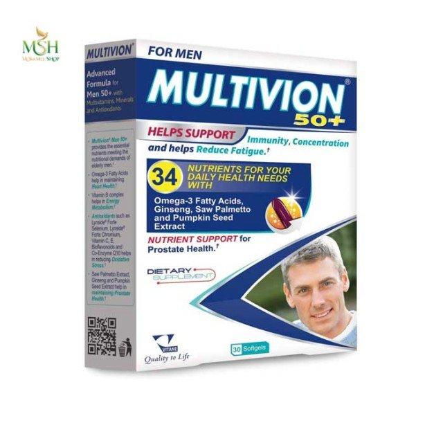 مولتی ویون مردان بالای 50 سال ویتان | Vitane Multivion for Men Over 50 Old