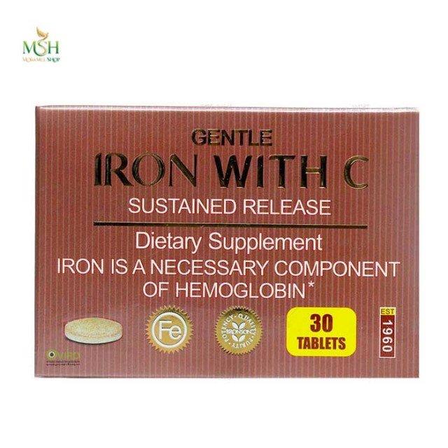 قرص پیوسته رهش آهن و ویتامین ث برونسون | Bronson Gentle Iron with Vitamin C