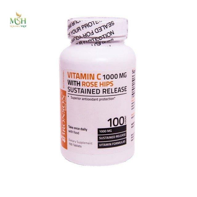 ویتامین ث همراه با عصاره رز هیپ برونسون | Bronson Vitamin C with Rose Hips