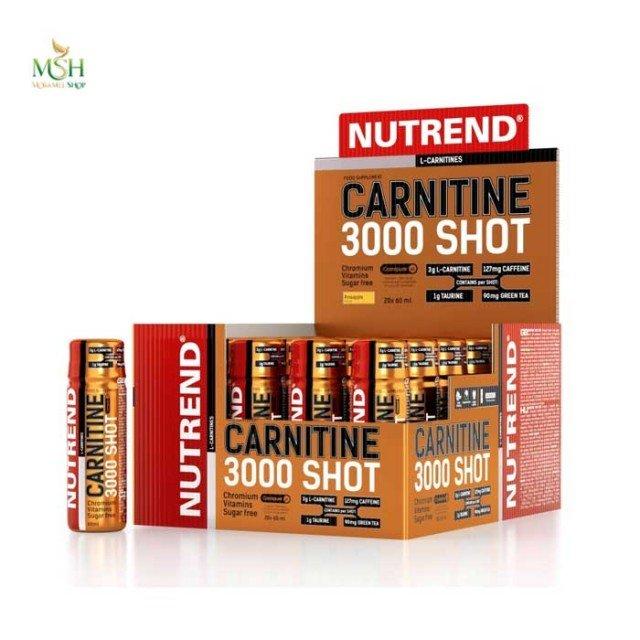 کارنیتین شات ۳۰۰۰ ناترند | Nutrend Carnitine 3000 Shot
