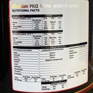 مشخصات پروتئین وی دکتر سان