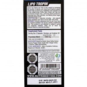 مشخصات چربی سوز لیپو تروپین آقایان نوتریمد | Nutrimed Lipo Tropin For Mens