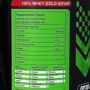 پروتئین وی گلد 100 درصد ادوای - 2270 گرم