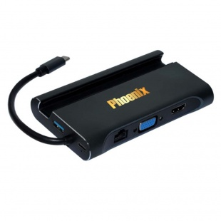 مبدل USB-C به HDMI/VGA/USB 3.0/LAN/USB-C فینیکس مدل L-1037