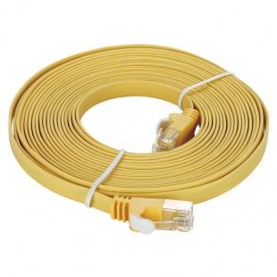 کابل شبکه 5 متری CAT 5e زرد دی-لینک مدل NCB-5EUYELF1-5