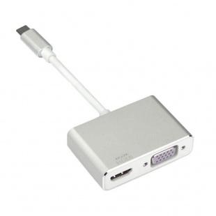 مبدل USB-C به VGA/HDMI مدل 4K