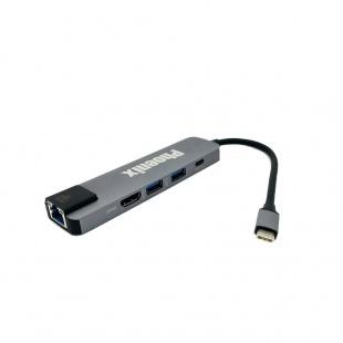 مبدل USB-C به HDMI /USB 3.0/LAN/USB-C فونیکس مدل S-1610