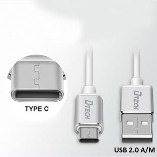 کابل Type-c به USB دیتک مدل DT-T0009 به طول 2 متر