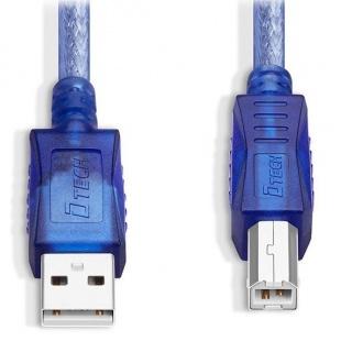 کابل پرینتر 3 متری USB 2.0 دیتک مدل Dtech DT-CU0094