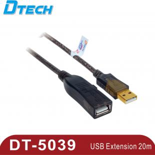 کابل 20متری افزایش طول USB 2.0 مدل Dtech Dt-5039