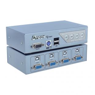 سوئیچ KVM چهار پورت PS2 و USB دی تک مدل DT-8041