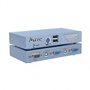 سوئیچ KVM دو پورت PS2 و USB دیتک مدل DT-8021