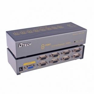 اسپلیتر VGA هشت پورت دیتک مدل DT-7358 با کیفیت 350 مگاهرتز