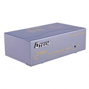 اسپلیتر VGA دو پورت دیتک مدل DT-7352 با کیفیت 350 مگاهرتز