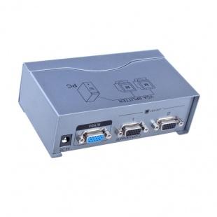 اسپلیتر VGA دو پورت دیتک مدل DT-7502 با کیفیت 500 مگاهرتز
