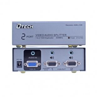 اسپلیتر VGA AUDIO دو پورت دیتک مدل DT-AU7502 با کیفیت 500 مگاهرتز