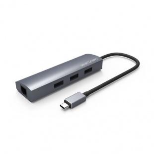 هاب و تبدیل Type-c به USB 3.0 و LAN ویولینک مدلUH3031GC