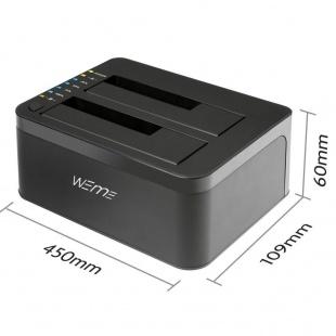 Fideco Dual Bay HDD Docking Station with USB 3.0 Hub