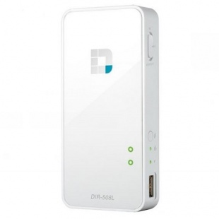 D-Link DIR-508L N300 Portable Router and Charger