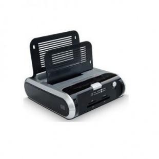 نگهدارنده هارد USB 3.0 با 2 پورت ورودی SATA همراه رم ریدر و هاب فرانت