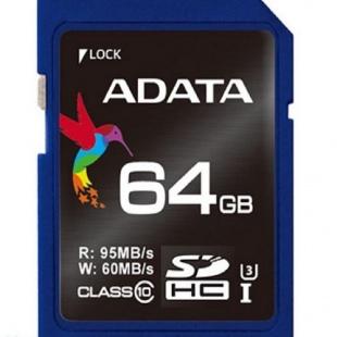 Adata Premier SDHC UHS-I U3 Class 10 Memory Card – 64GB