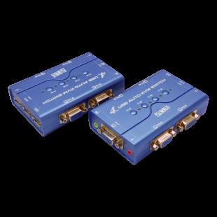 سوییچ KVM چهار پورت کی نت پلاس مدل Auto USB