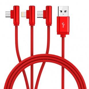 کابل تبدیل USB به لایتنینگ/microUSB/USB-C اوریکو مدل H3S-12 طول 1.2 متر