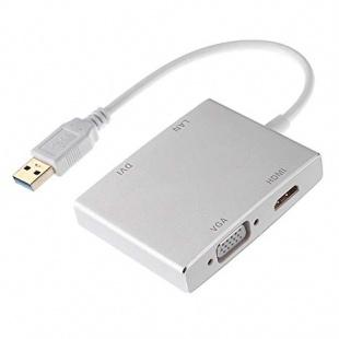 تبدیل USB3.0 به HDMI و VGA و DVI و LAN