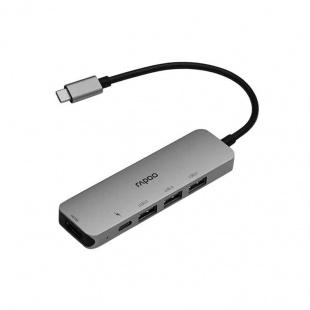 هاب Type-c رپو مدل XD100 دارای پورت های خروجی USB 3.0 و HDMI