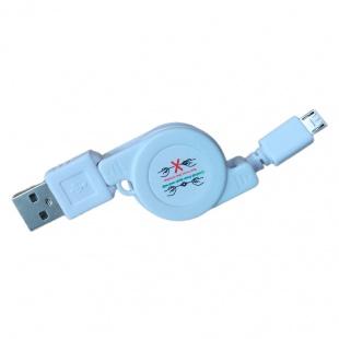 کابل انتقال داده و شارژر micro usb تا شو به طول 80 سانتی متر