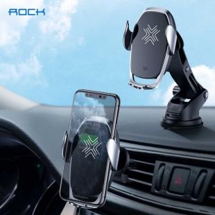 هولدر و شارژر بی سیم rock w29 wireless charging car mount with infrared sensor
