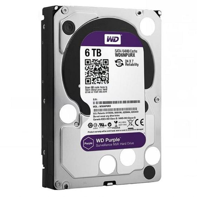 Western Digital NV Purple WD6NPURX Internal Hard Drive - 6TB