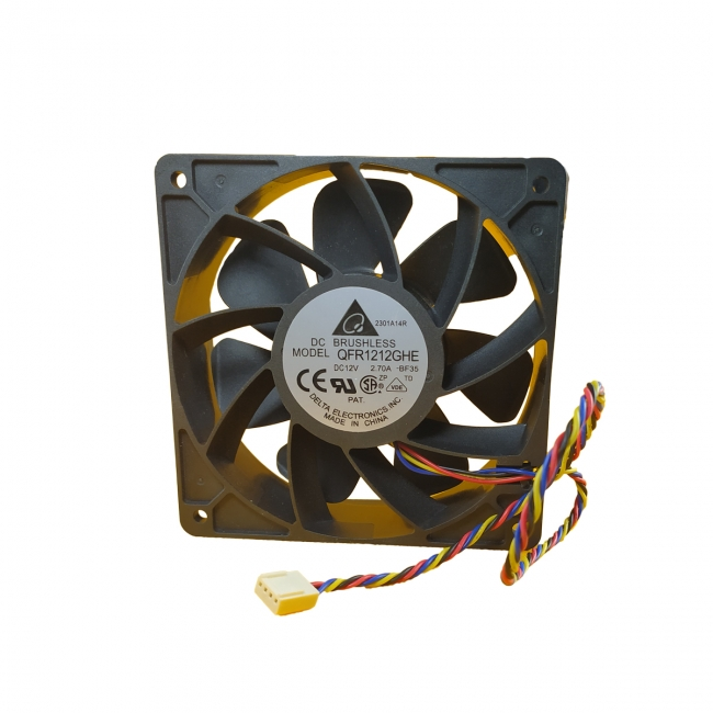 فن دلتا دور بالا 12 ولت 12x12x3.8 سانتی متر 2.7 آمپر مناسب برای ماینر