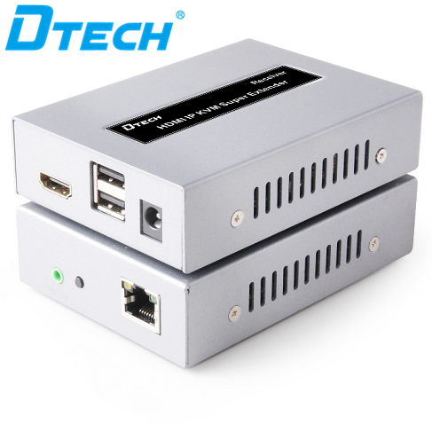 اکستندر HDMI دیتک 50 متر HDMI DT-7054 USB2.0 KVM Extender 50m With IR