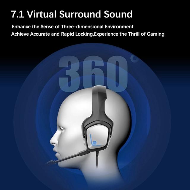 هدست گیمینگ اچ پی مدلHP H220G virtual 7.1 Gaming headset