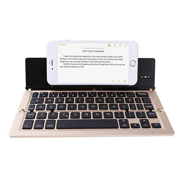 کیبورد تاشو وایرلس برای گوشی مدل Folding Keyboard RF-1004