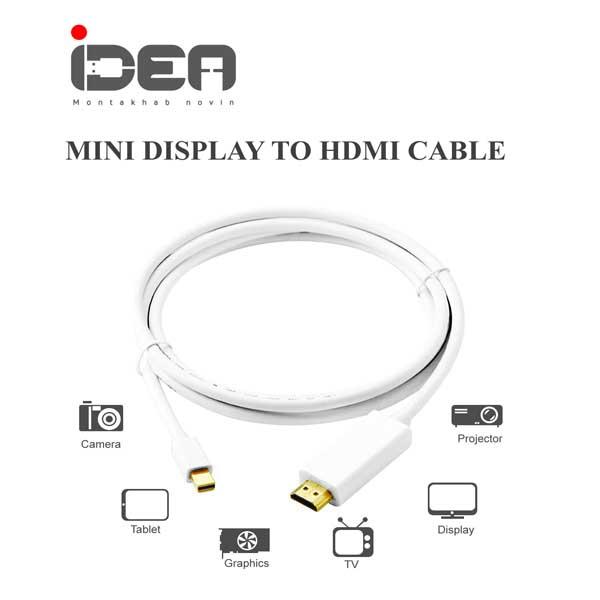تبدیل minidisplay به hdmi کابلی idea minidisplay to hdmi 1.8