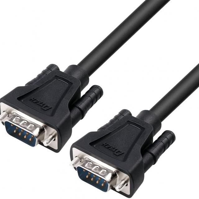 کابل سریال RS232 نری به نری دیتک مدل dt-9005a DTECH 1.5ft DB9 Serial Cable COM Port Male to Male RS232