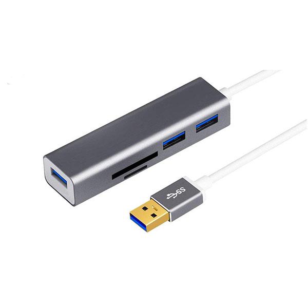 هاب 3 پورت USB 3.0 اونتن مدل OTN-5223 به همراه کارت خوان