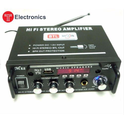 آمپلی فایر مدل Hi-Fi Streo Karaoke Amplifier AK-328H